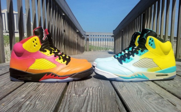 Air Jordan - 5 'Summer Love Custom Collection'