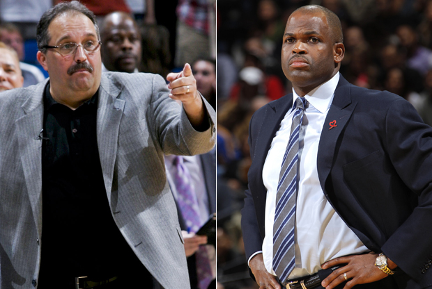Stan Van Gundy y Nate McMillan./ Getty Images