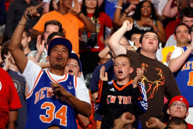 Fans de los New York Knicks./ Getty Images