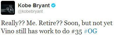 Kobe Bryant./ Twitter