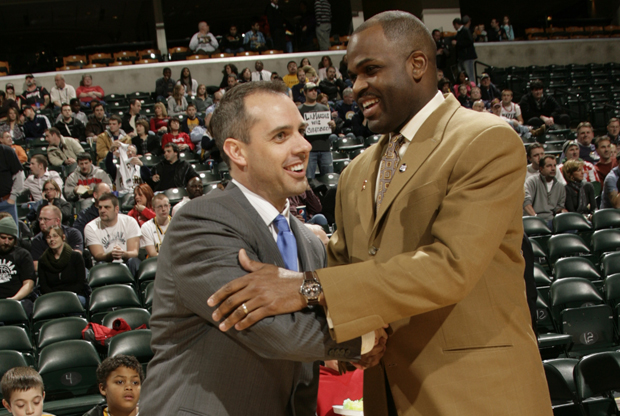 Frank Vogel y Nate McMillan./ Getty Images