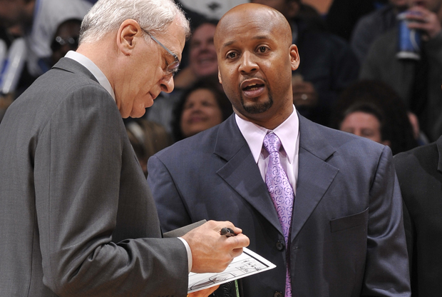 Phil Jackson y Brian Shaw./ Getty Images