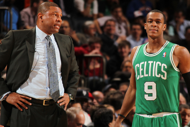 Doc Rivers y Rajon Rondo./ Getty Images