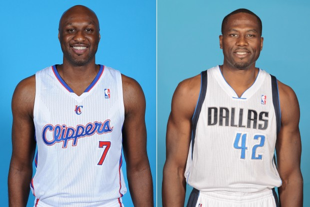 Lamar Odom y Elton Brand./ Getty Images