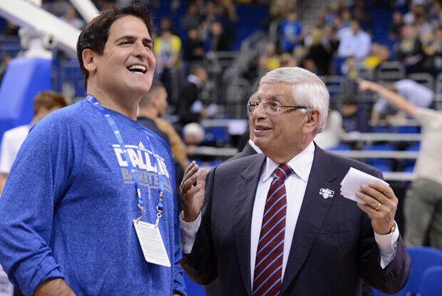 Mark Cuban y David Stern./ Getty Images