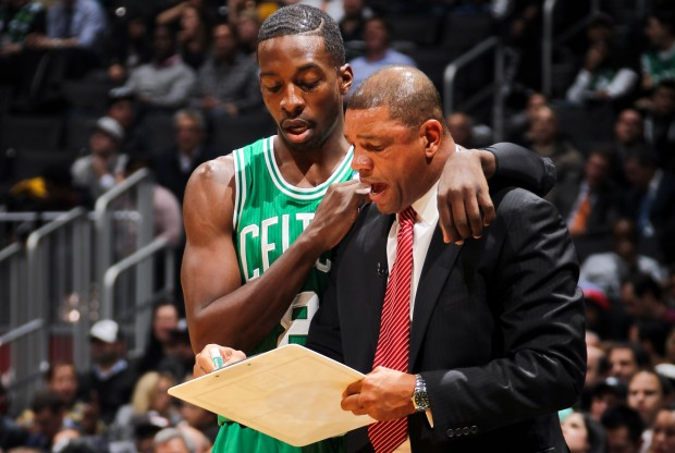 Jeff Green y Doc Rivers./ Getty Images