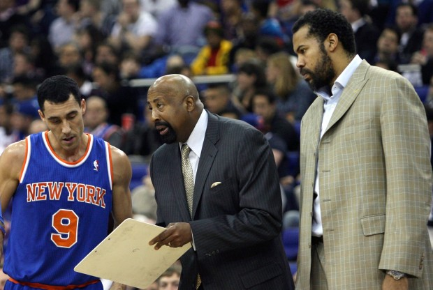 Pablo Prigioni, Mike Woodson y Rasheed Wallace./ Getty Images