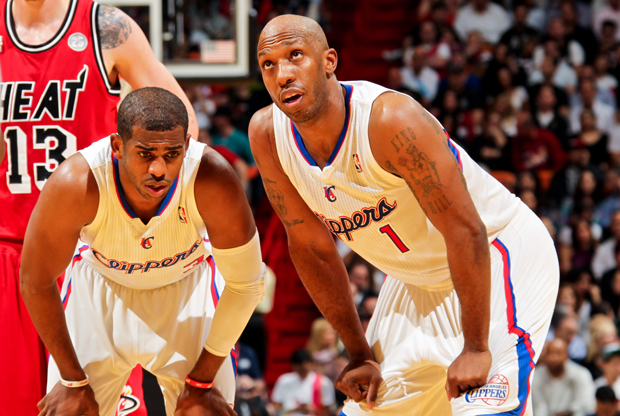 Mike Miller, Chris Paul y Chauncey Billups./ Getty Images