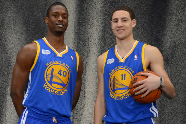 Harrison Barnes y Klay Thompson./ Getty Images