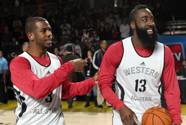 Chris Paul y James Harden./ Getty Images