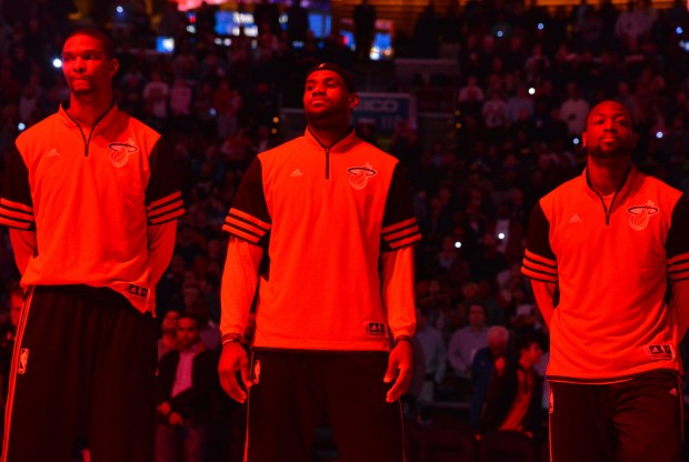 Chris Bosh, LeBron James y Dwyane wade./ Getty Images