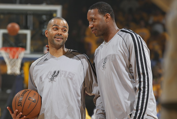Tony Parker y Tracy McGrady./ Getty Images