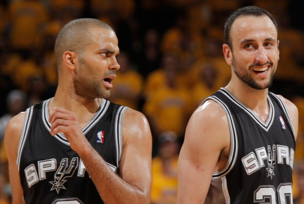 Tony Parker y Manu Ginobili./ Getty Images
