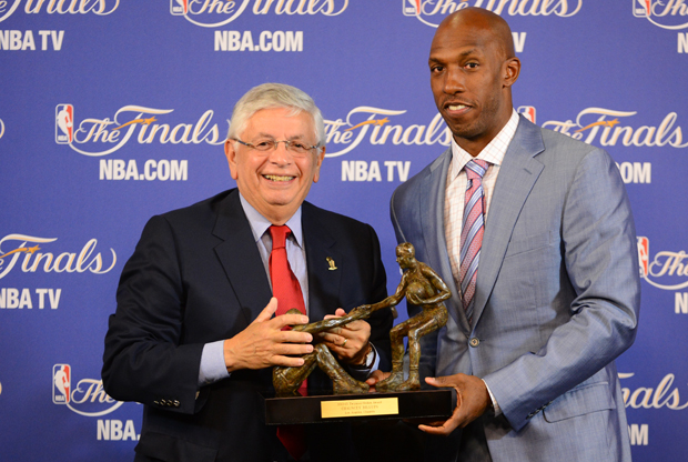 David Stern y Chauncey Billups./ Getty Images