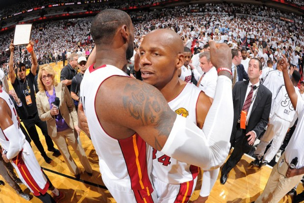 LeBron James y Ray Allen./ Getty Images
