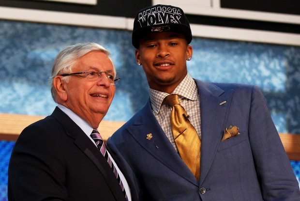 David Stern y Trey Burke./ Getty Images