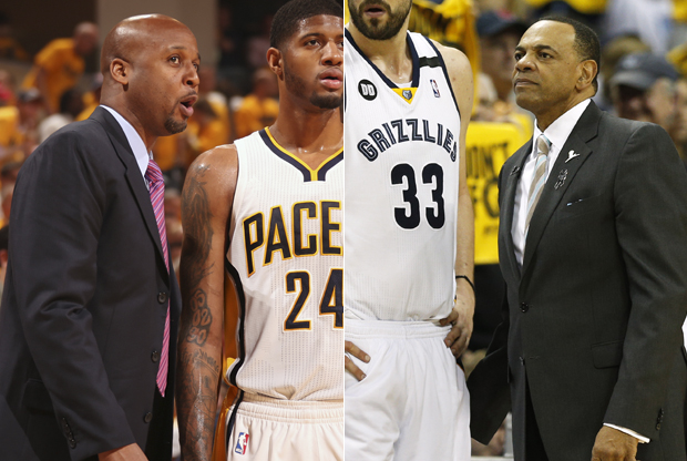 Brian Shaw y Lionel Hollins./ Getty Images