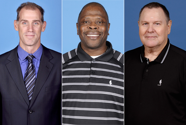 Chris Jent, Patrick Ewing y Brendan Malone./ Getty Images