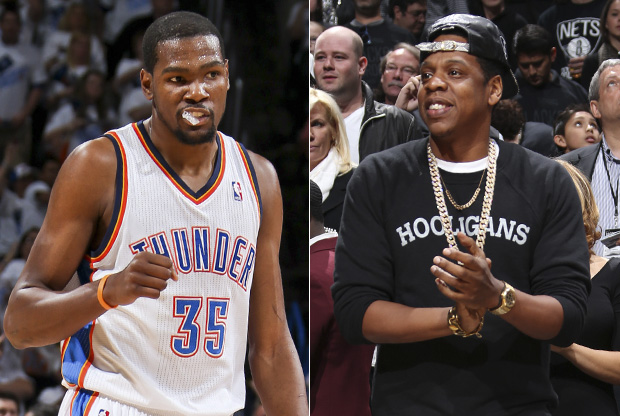 Kevin Durant y Jay-Z./ Getty Images