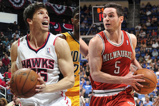 Kyle Korver y J.J. Redick./ Getty Images