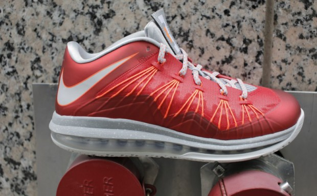 Nike - LeBron X Low 'University Red/Pure Platinum'