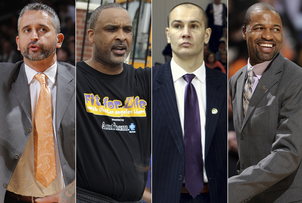 Igor Kokoskov, Phil Handy, Vitaly Potapenko y Jamahl Mosley./ Getty Images