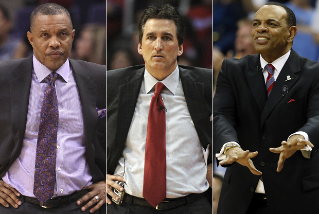 Alvin Gentry, Vinny Del Negro y Lionel Hollins./ Getty Images