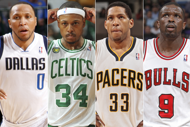Shawn Marion, Paul Pierce, Danny Granger y Luol Deng./ Getty Images
