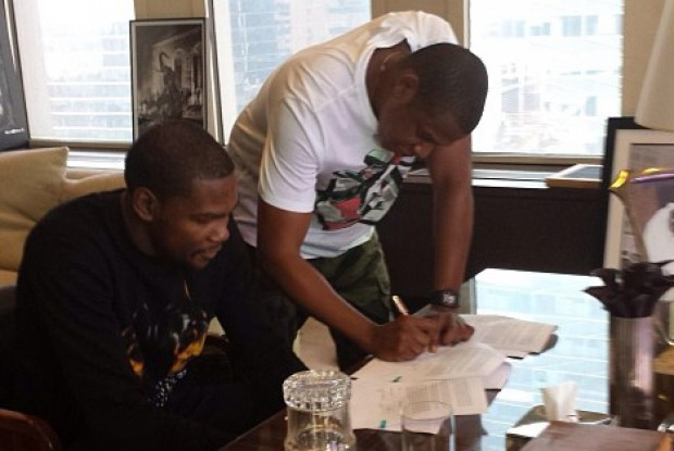 Kevin Durant y Jay-Z./ Instagram