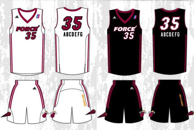 Uniformes de Sioux Falls Skyforce - Miami Heat