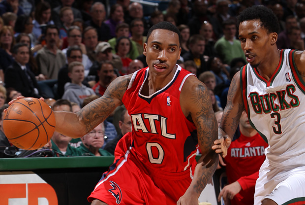 Jeff Teague y Brandon Jennings./ Getty Images