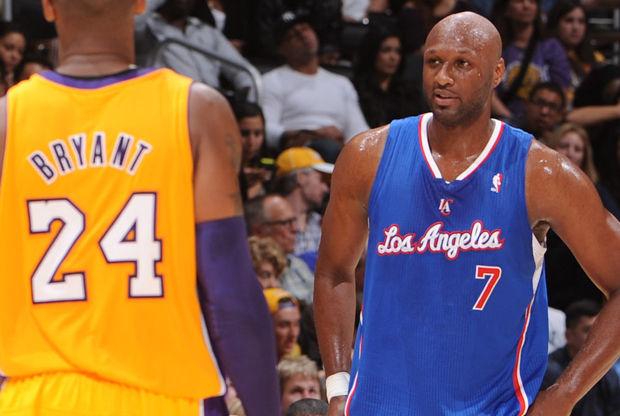 Kobe Bryant y Lamar Odom./ Getty Images