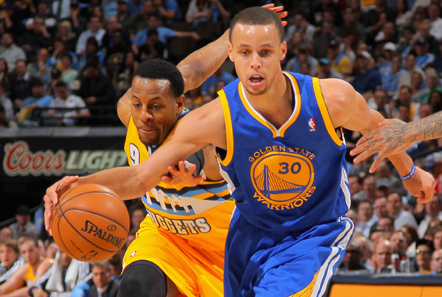 Stephen Curry y Andre Iguodala./ Getty Images