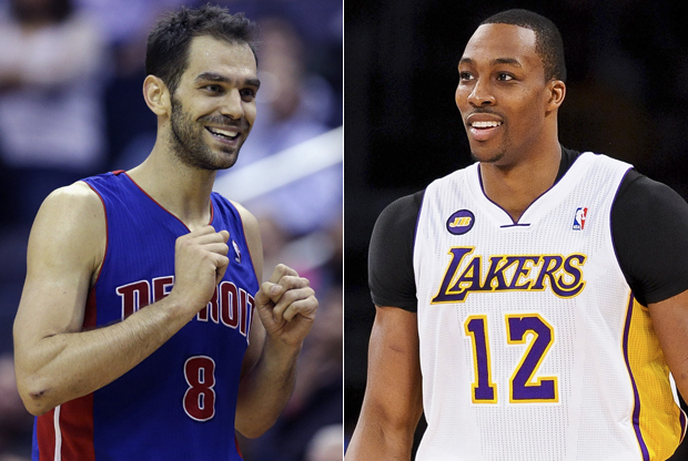 José Calderón y Dwight Howard./ Getty Images