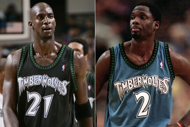 Kevin Garnett y Malik Sealy./ Getty Images
