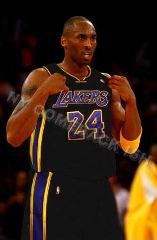 Los Angeles Lakers black jersey