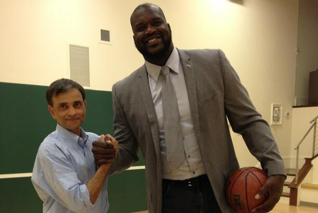Vivek Ranadive y Shaquille O'Neal
