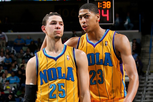 Aunstin rivers y Anthony Davis./ Getty Images
