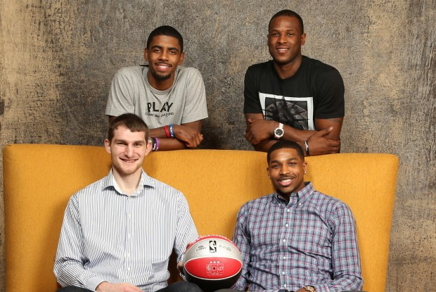 Kyrie Irving, Tristan Thompson, Tyler Zeller y Dion Waiters./ Getty Images