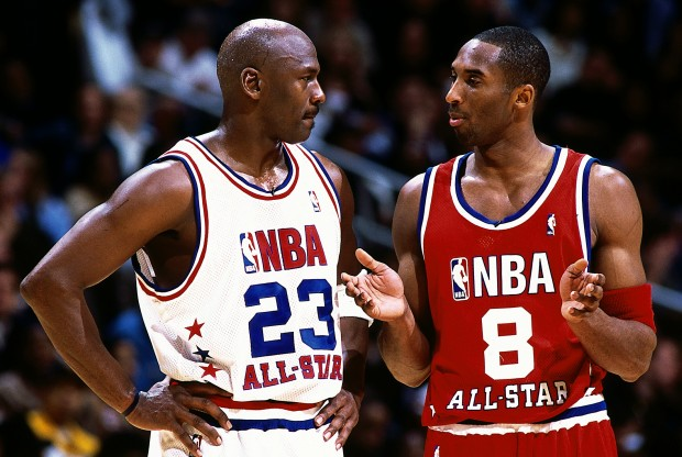 Michael Jordan y Kobe Bryant./ Getty Images