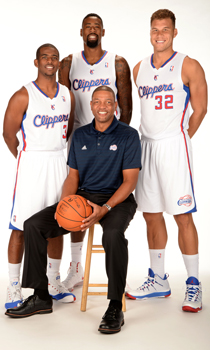 Chris Paul, DeAndre Jordan, Doc Rivers y Blake Griffin./ Getty Images