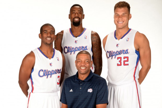 Chris Paul, DeAndre Jordan, Blake Griffin y Doc Rivers./ Getty Images