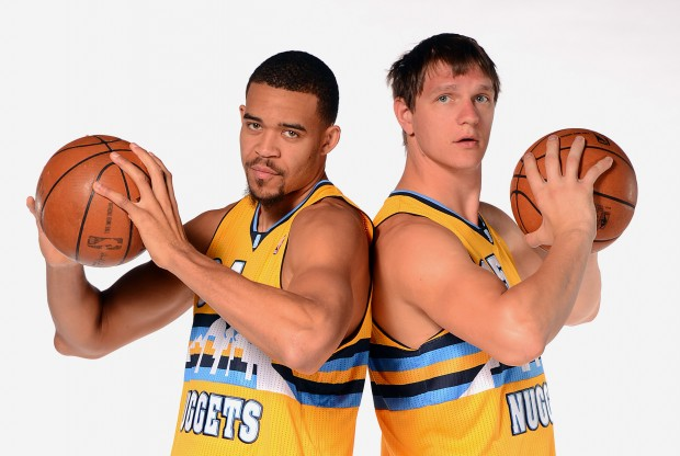 JaVale McGee y Timofey Mozgov./ Getty Images