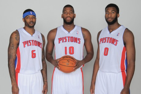 Josh Smith, Greg Monroe y Andre Drummond./ Getty Images