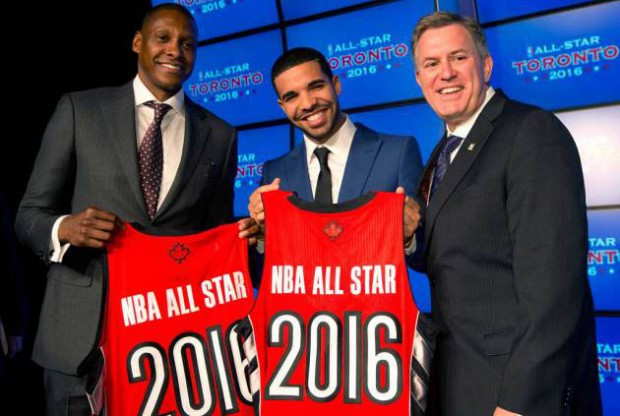 Masai Uriji, Drake y Tim Leiweke./ Getty Images