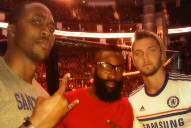 Dwight Howard, James Harden y Chandler Parsons./ Twitter