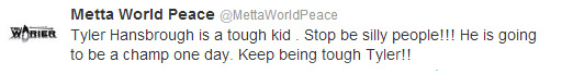 Metta World Peace./ Twitter