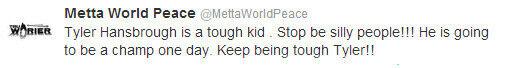 Metta World Peace./ Twitter
