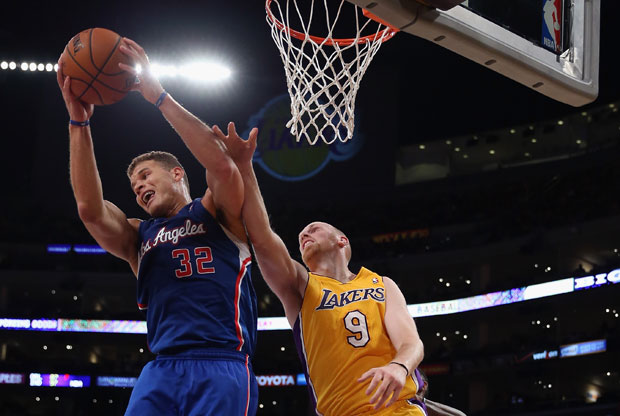 Blake Griffin y Chris Kaman / Getty Images