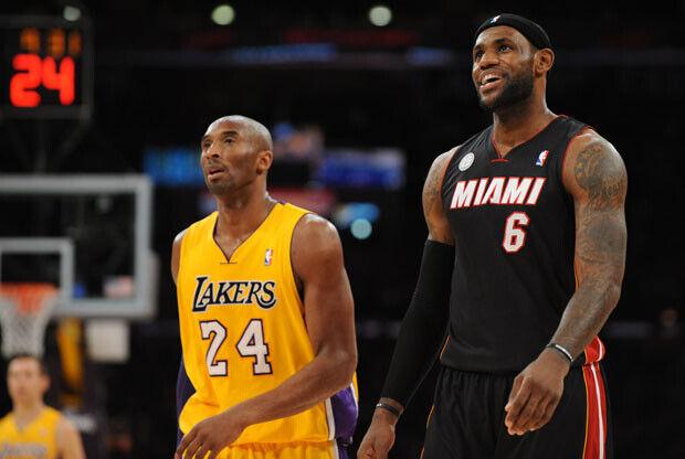 Kobe Bryant y LeBron James / Getty Images
